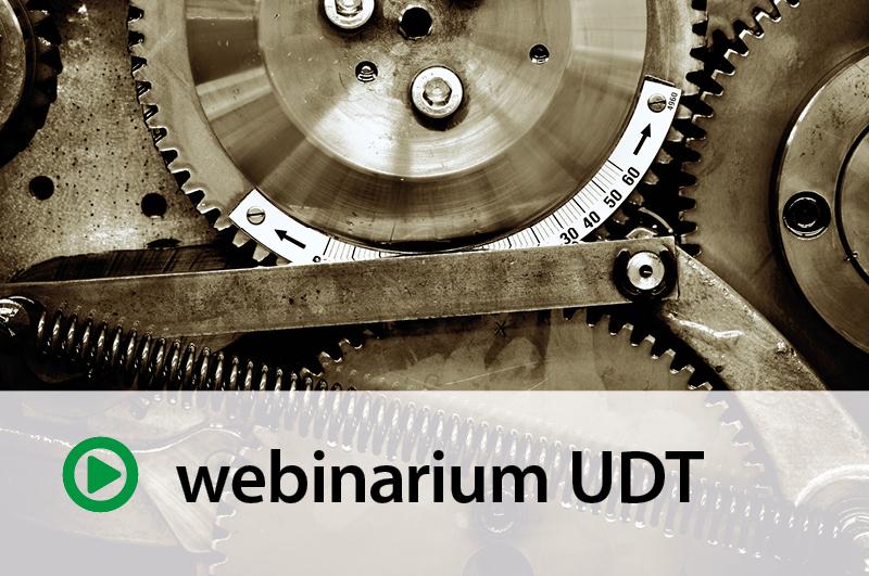 """Webinarium UDT: """"Standardy bezpieczeństwa uregulowane dyrektywą maszynową 2006/42/WE"""" – 26.09.2017 r."""
